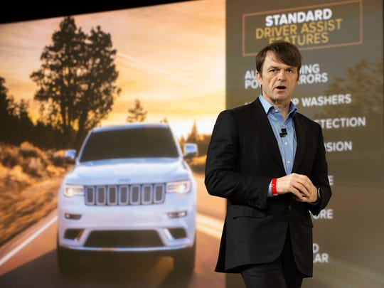 Head of Jeep Brand Mike Manley introduces the Summit version of the Jeep Grand Cherokee at the New York International Auto Show in March 2016 in New York.