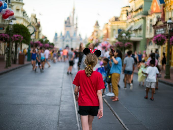 Walking down Main Street, U.S.A. at Disney's Magic