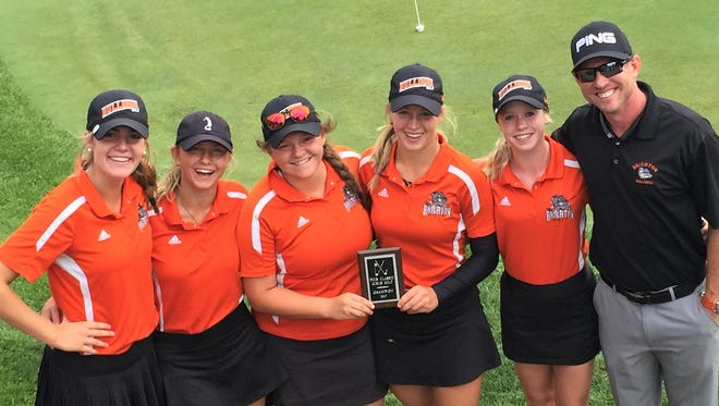 Brighton won the Plymouth-Canton Canton Salem Invite over Saline on a fifth-player tie-breaker.