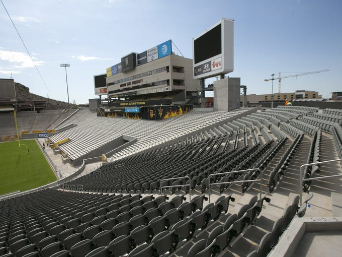 New seats are seen on the west and southwest part of
