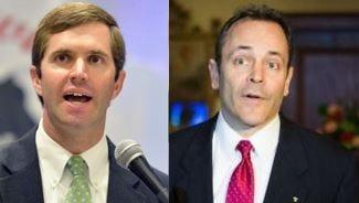 Democratic Attorney General Andy Beshear, left, and Republican Gov. Matt Bevin.