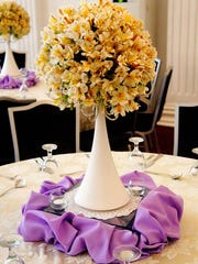 Yellow Alstromeria as Centerpiece