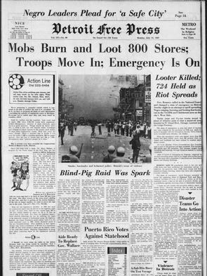 "Headline on the front page, ""Mobs Burn and Loot 800"