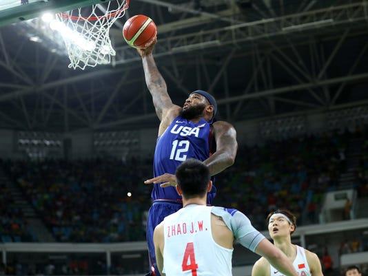 Olympics: Basketball-Men's Team-Preliminary Round Group A-CHN vs USA
