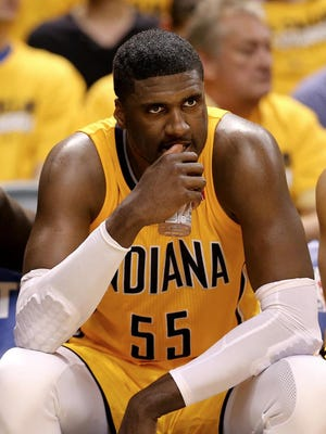 Pacers C Roy Hibbert has scored 17 points on 18.9 percent shooting in last five games.