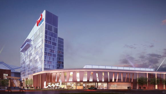 This is a rendering of the new Live! by Loews – Arlington,