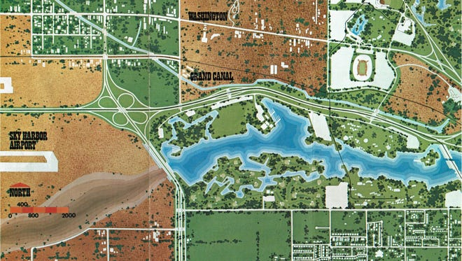 Three years after Dean James Elmore challenged Arizona State University architecture students to design a recovery plan for the long-abandoned Salt River channel, a third iteration of what would be known as the Rio Salado Project was debuted in 1969.