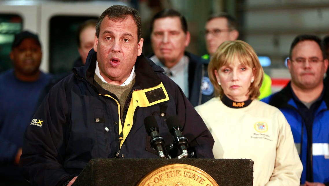 Governor Chris Christie holds a press conference after