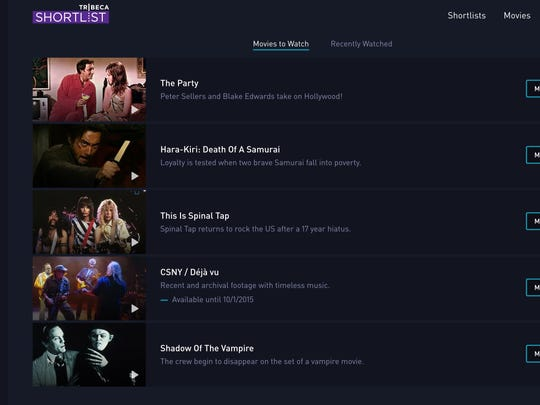 A screen shot of the Tribeca Shortlist streaming movie