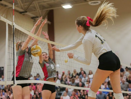 "Highlights from the ""volleyball game of the year."""