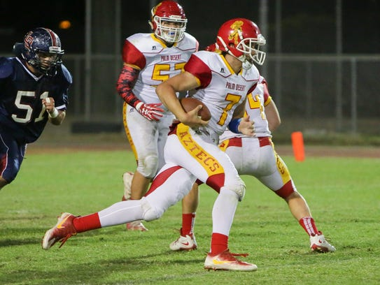 Palm Desert quarterback Carter Stokes accounted for