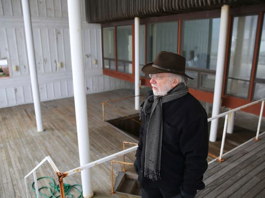 Joel Levinson, an architect from Philadelphia, visits a beach front house that he designed almost 50 years ago in Margate. The two-story house, built in 1967, was sold this fall for more than $4 million.