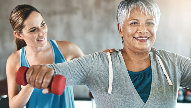 Strength training is essential for maintaining muscle that the body loses naturally with age.