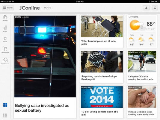 iPad whole screen home JConline