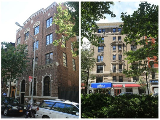 314 West 91st Street, left, and 2643 Broadway in Manhattan are two of three Sullivan Institute-owned buildings on the Upper West Side where their members lived.