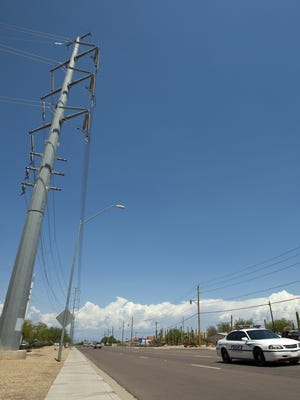 Plans are moving forward to build new power lines strung from steel towers along the entrance to WestWorld in Scottsdale.
