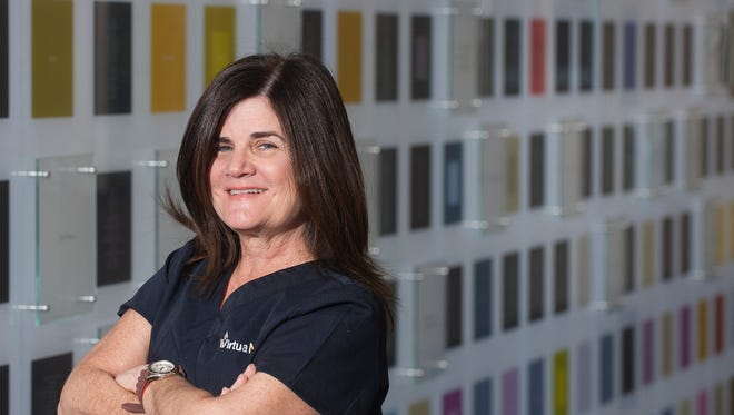 Anne Bertino-Lapinsky of Voorhees, a Virtua nursing supervisor, drove herself to the emergency room at Virtua Voorhees after she felt pain and numbness in her shoulder and left arm, along with the feeling that something was terribly wrong. Her hunch saved her life.