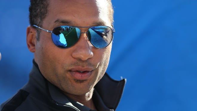 A file photo of Buffalo Bills general manager Doug Whaley in 2014.