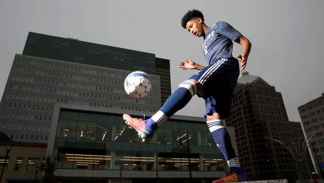 An All-Greater Rochester and fourth-team all-state pick as a junior, World of Inquiry senior Ayub Jeylani is the 2017 AGR Player of the Year after leading the Griffins to a fourth straight Section V crown.