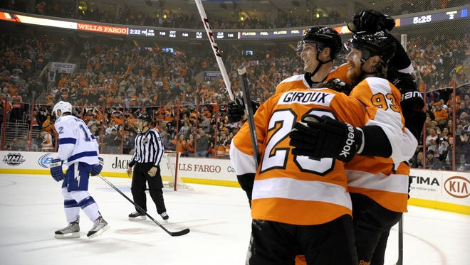 The Lightning beat the Flyers 6-3 in their last visit to Philadelphia.