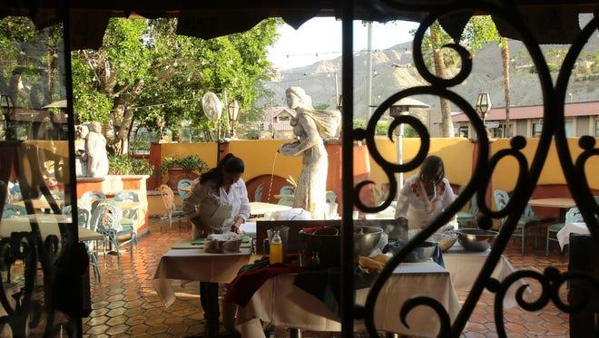 Fresh flour and corn tortillas are prepared during Cinco de Mayo festivities on Monday, May 5, 2014 at Las Casuelas Nuevas in Rancho Mirage, Calif.