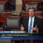 This frame grab provided by C-SPAN shows Sen. Chris Murphy, D-Conn. speaking on the floor of the Senate on June 15, 2016.