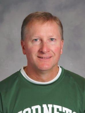 Green Bay Preble boys basketball coach Andy Bobholz.