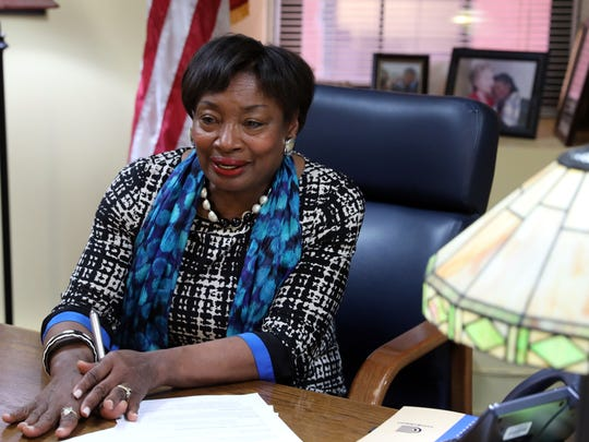 Sen. Andrea Stewart-Cousins discusses her role in the Senate April 26, 2018 in her Yonkers office.