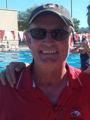 Phoenix Brophy Prep boys swimming coach Pat O'Neill.