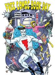 A promotional poster for Free Comic Book Day