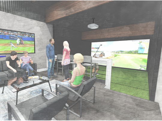 POP Stroke will have three golf simulators where you can play on more than 200 of the world's most famous golf courses.