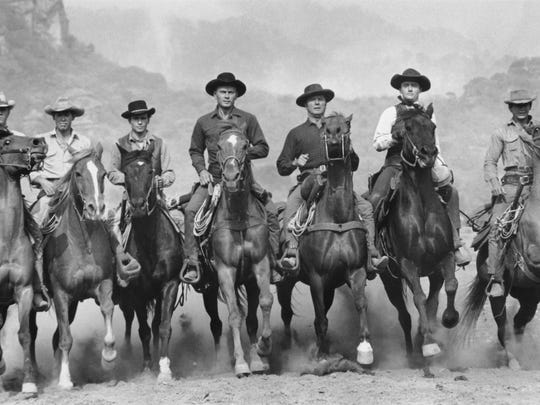 "A scene from ""The Magnificent Seven"" (1960)."