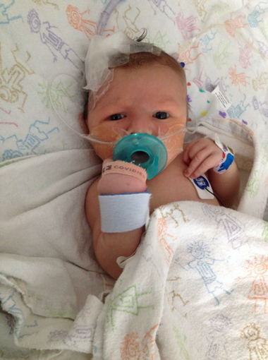 Gunnar spent much of his first three months hospitalized.