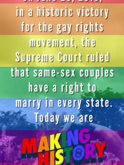 "Screen shot of snapchat ""Marriage Equality"" snap story"