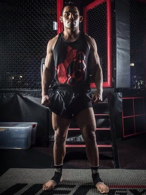 Guam's Joe Gogo will compete for a World Championship Muay Thai title belt next week in Tijuana, Mexico. Gogo trains at a UFC Gym near his home in San Diego.