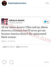 Azelia Banks weighs in on controversy.