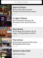 A screenshot of the TabSaver phone app shows drink