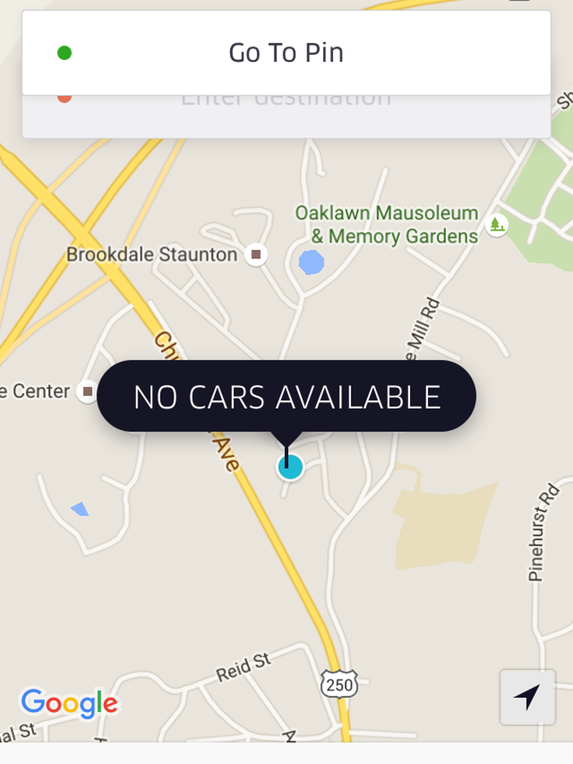 Opening the Uber app may seem useless in the Valley,