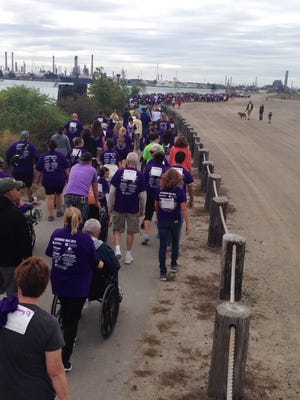About 500 people took part in the Dementia and Alzheimer's Resource Committee of St. Clair County's first walk in September 2015 to raise awareness and funds toward Alzheimer's. Committee chairwoman Marcia Haynes, whose husband was diagnosed with Alzheimer's nearly 10 years ago, founded the committee and the walk.