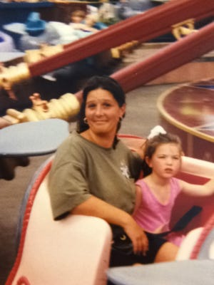 Christina Devlin with her mother during happier times.