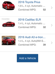 The EPA's Find-a-car app lets shoppers compare cars on their phones.