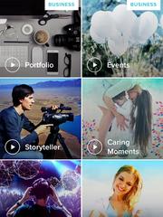 Screen shot of Magisto app