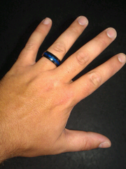 "Amanda and Dylan Dvorak were celebrating their anniversary at Ocean City earlier this month when Dylan lost his wedding band during an impromptu beach rescue. His ring is called the ""Thin Blue Line"" and is titanium black with blue diamonds in honor of his years of service as a police officer."