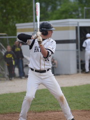 Washington senior Ben Lambert waits for a pitch in a game earlier this season. The Hatchets entered Tuesday 15-1.