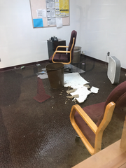 Water flooded several rooms of Heart Butte School on