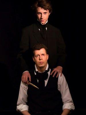 "Austin Robert Miller and Travis Winterstein return in their dual roles as Edgar Allan Poe in Lit Live's revival of ""Dark Heart of Poe"" through Oct. 28 at Playhouse 101 in Agoura Hills."