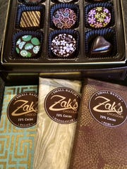 Zak's Chocolate sells gorgeously decorated chocolate