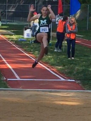 Madison freshman Kari Eckenwiler, in this 2017 photo, won two events to lead her girls team to a title in its own invitational.