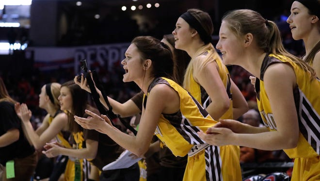 The Kickapoo Lady Chiefs lost to Kirkwood in the Class 5 state championship game Saturday, March 17, 2018 at JQH Arena in Springfield, Mo.