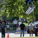 Black and Blue Lives Matter protesters square off in Middletown